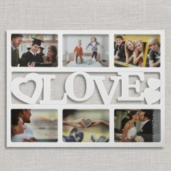 Cadre 6 photos motif Love