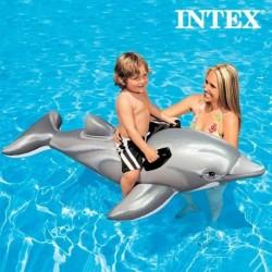 Bouée gonflable dauphin à poignées