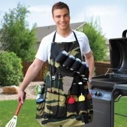 Tablier de cuisine pour barbecue à poches multiples