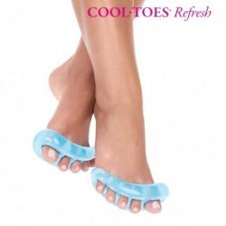 Séparateurs d'orteils fait en gel de silicone pour massage des pieds