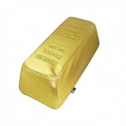 Pouf lingot d'or fatice 55cm