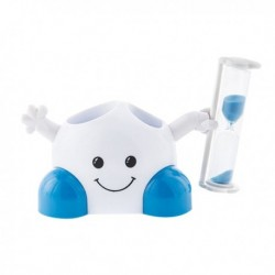 Porte brosses à dents petit bonhomme avec sablier 3 minutes