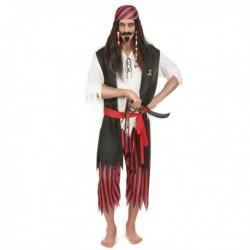 Déguisement pour homme pirate 5 pièces