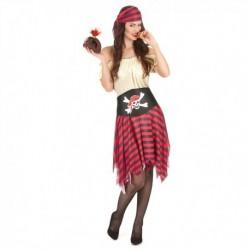 Déguisement pour femme robe Pirate 2 pièces