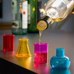 Verres shooters bécher de chimie (4 pièces)