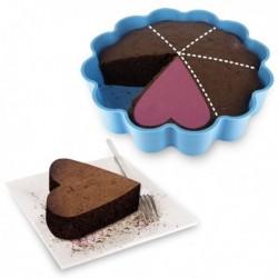 Moule à gâteau pour 6 parts individuels en forme de cœurs