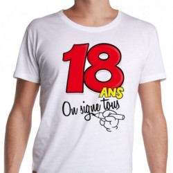 T-shirt 18 ans à personnaliser