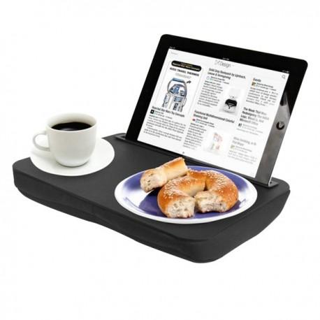 Plateau avec coussin pour tablette