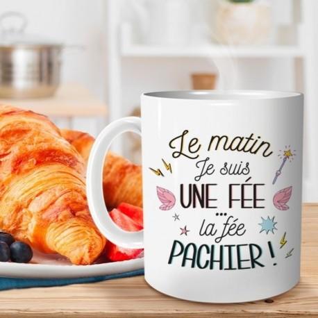 Tasse humoristique en céramique Le Matin Je Suis Une Fée, La Fée Pachier