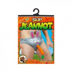 Slip Jeannot Lapin avec une carotte à la bouche