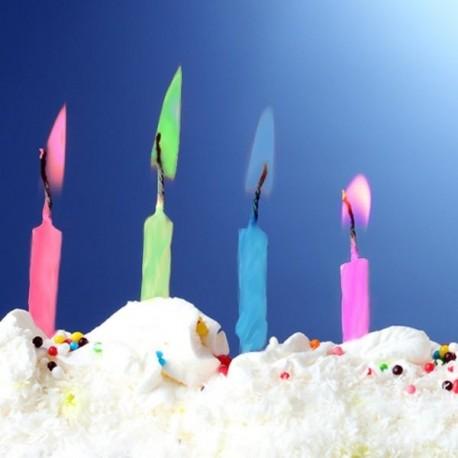 Bougies à Flamme Colorée (10 pièces)