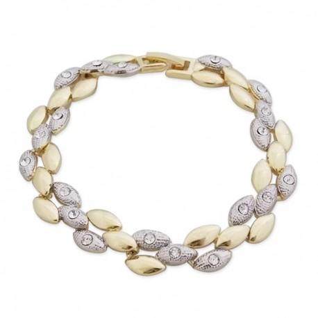 Bracelet multiples torsades dorées et argentées