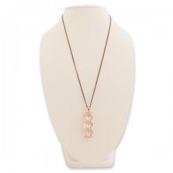 Sautoir pendentif triple faux diamant