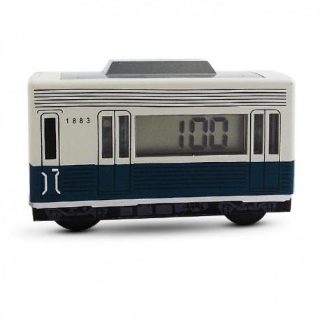 Réveil wagon roulant en plastique