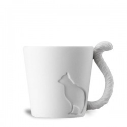 Tasse silhouette chat avec anse queue d'animal