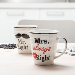 Duo tasses Monsieur et Madame Right