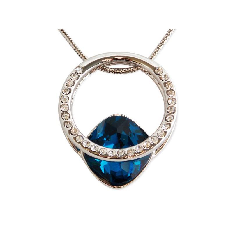 Collier pendentif anneau strass et fausse pierre pr cieuse - Fausse pierre precieuse ...