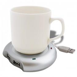 Chauffe-tasse USB et hub 4 ports