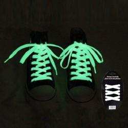 Paire de lacets blancs fluorescents