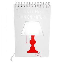 Lampe de chevet USB carnet de dessin