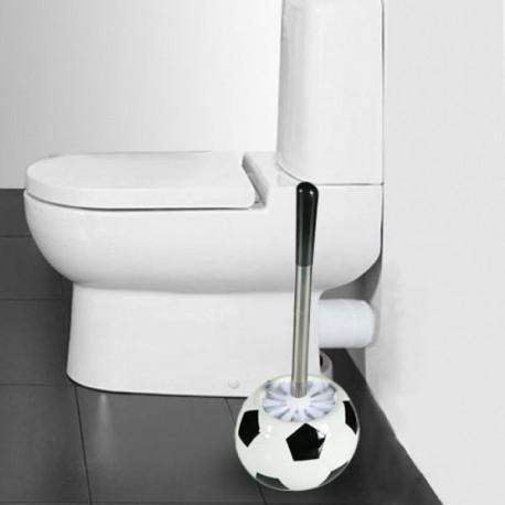 Brosse de toilette ballon de football