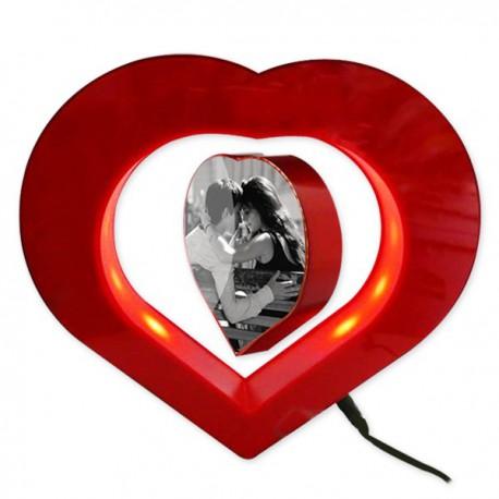Coeur photo LED en lévitation
