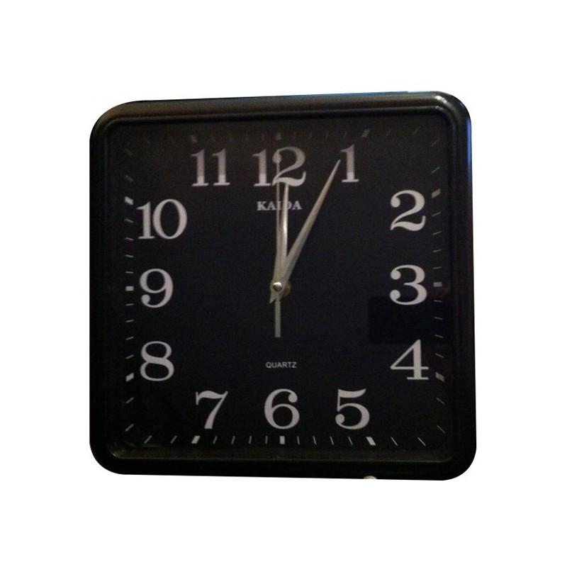 horloge murale carr e avec cam ra espion 4go. Black Bedroom Furniture Sets. Home Design Ideas