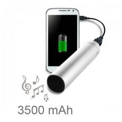 Batterie de secours micro USB avec haut-parleur