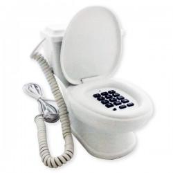Téléphone en forme de toilettes