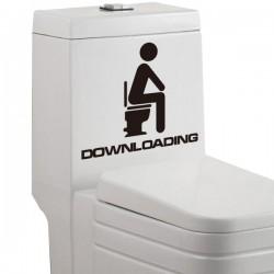Sticker pour toilettes Downloading