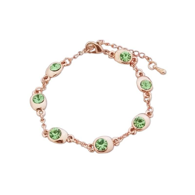 bracelet fantaisie dor faux cristaux verts. Black Bedroom Furniture Sets. Home Design Ideas