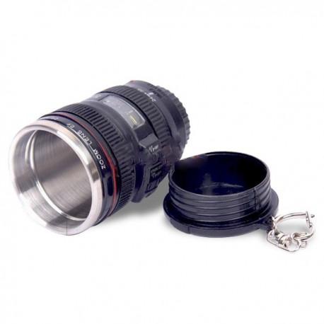 Mini tasse thermos objectif d'appareil photo