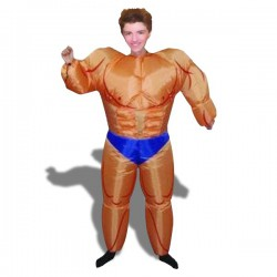 Costume gonflable bodybuilder