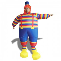 Costume de clown gonflable avec chapeau