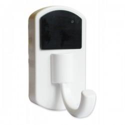 Porte-manteau blanc avec caméra espion