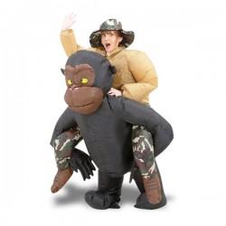 Costume gonflable à dos de gorille