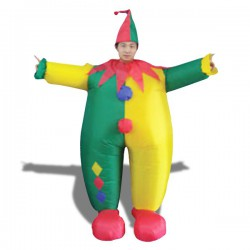 Costume gonflable clown multicolore