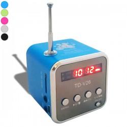 Mini haut-parleur cube avec écran LCD