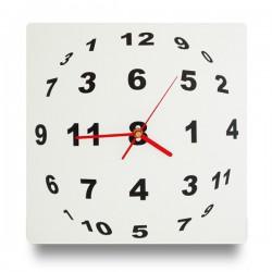 Horloge à sphère de chiffres illusion d'optique