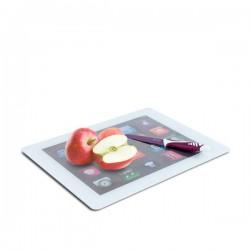 Planche à découper en verre en forme d'iPad