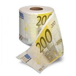 Papier toilettes billets de 200 euros