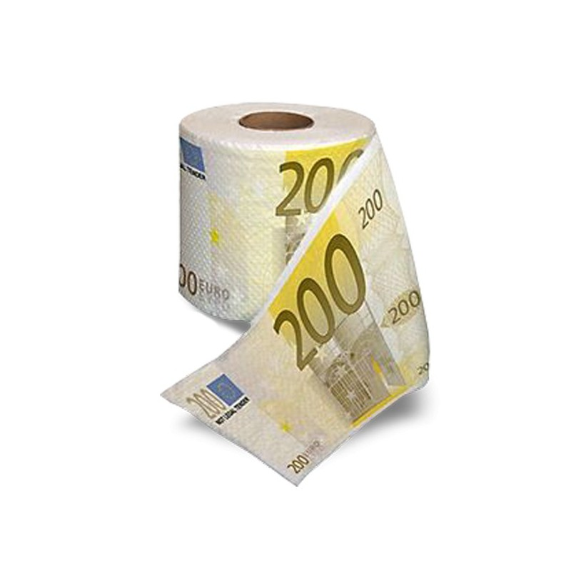 papier toilettes billets de 200 euros. Black Bedroom Furniture Sets. Home Design Ideas