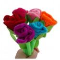Stylo en peluche fleur de rose