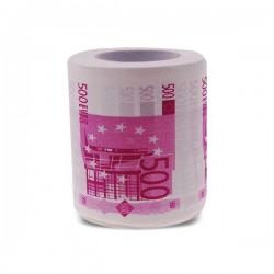 Rouleau de papier toilettes billets de 500 euros