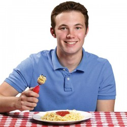 Fourchette à tête pivotante pour spaghettis