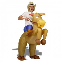 Costume cow-boy à cheval gonflable