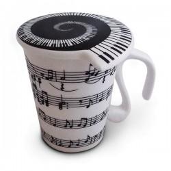 Tasse partitions de piano avec couvercle