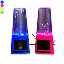 Haut-parleur fontaine d'eau et lumière