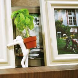 Petite plante avec support bonhomme flexible