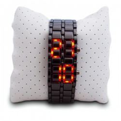Montre LED bracelet métallique